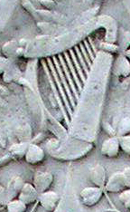 Irish harp Hynes grave